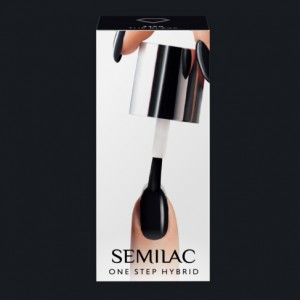 S190 Semilac One Step Hybrid  The Black 5ml Gel Lak